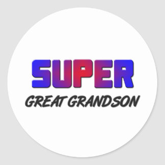 Super Great Grandson Classic Round Sticker