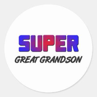 Super Great Grandson Round Sticker