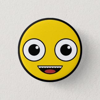 Super Happy Face 1 Inch Round Button