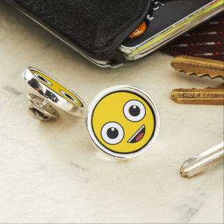 Super Happy Face Lapel Pin