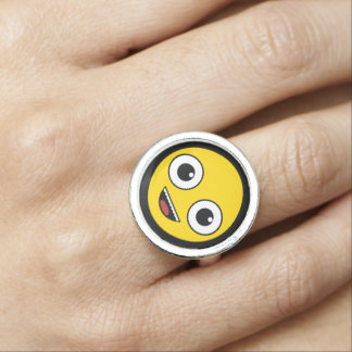 Super Happy Face Photo Ring