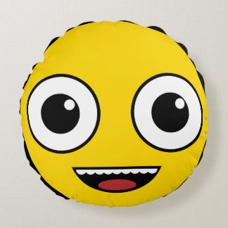Super Happy Face Round Pillow