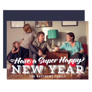 Super Happy New Year Photo Card