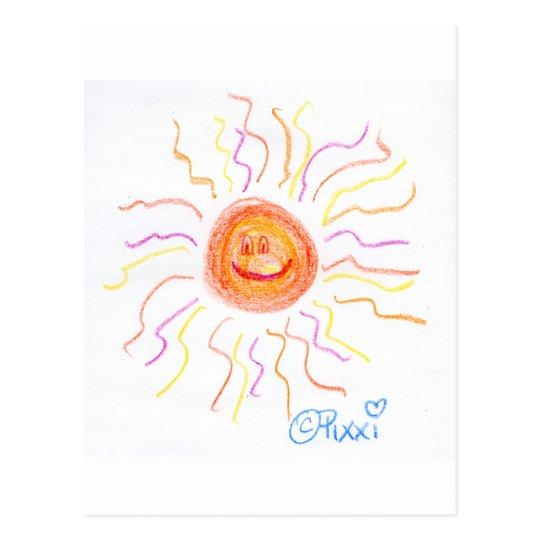 Super Happy Sun Postcard