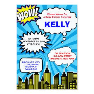 Super Hero Baby Shower Invitations   Comic Book