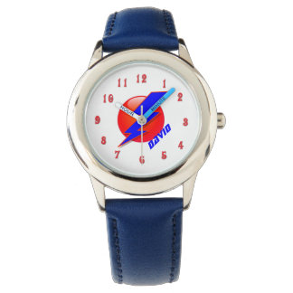 Super Hero Bolt Lightening Icon Boy's Custom Watch
