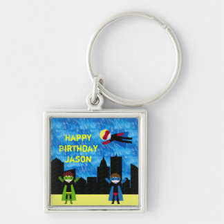 Super Hero Boys Bithday Party Keychains