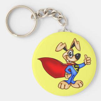 Super Hero Cartoon Dog Key Chain