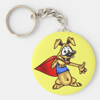 Super Hero Cartoon Dog Puppy Key Chain