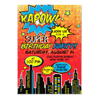 Super Hero Comic Book Birthday Card