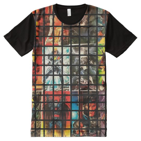 Super Hero Comic Style All-Over-Print T-Shirt