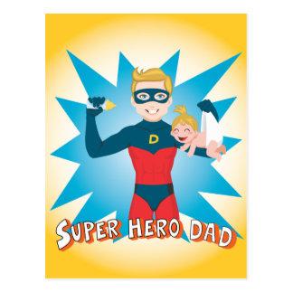 Super Hero Dad Postcard