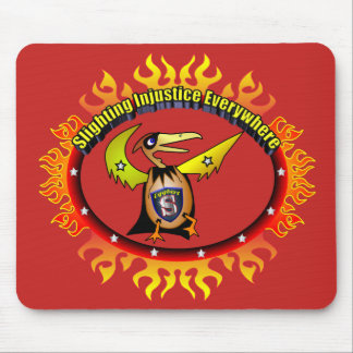 Super Hero Eggbert On fire! Mouse pad