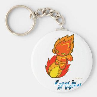Super Hero - Fire Surfer Basic Round Button Keychain