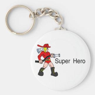 Super Hero (Fireman) Basic Round Button Keychain