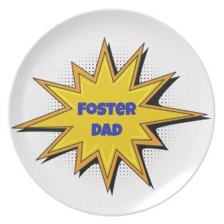 Super Hero Foster Dad Plate