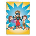 Super Hero Mom Note Card