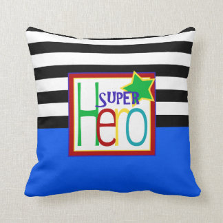Super Hero Pillow | Blue, Black, Red, Green