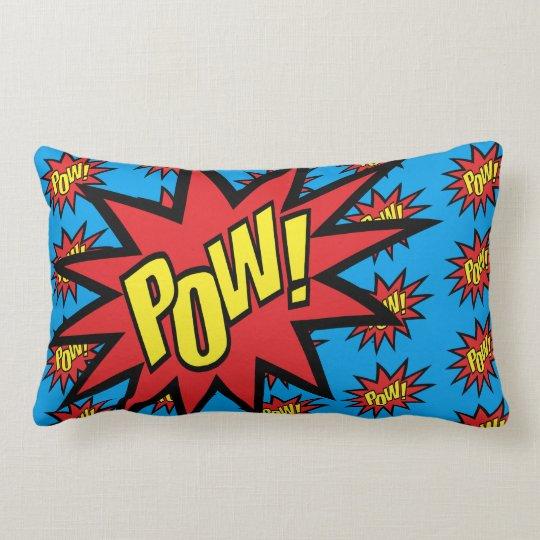 Super Hero Pow Custom Colour Lumbar Pillow