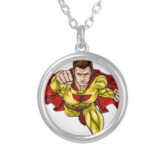 Super Hero Silver Plated Necklace