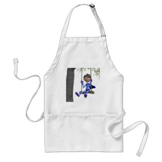 Super Hero swinging on a Rope Swing Standard Apron