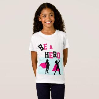 SUPER HERO Tshirt 4 GIRLS Name On Back
