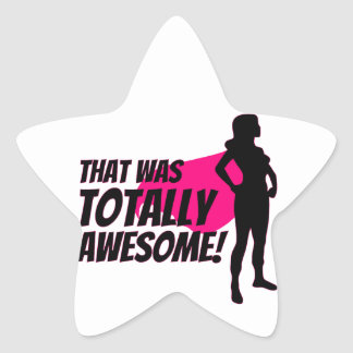 Super Hero Woman Power Star Sticker