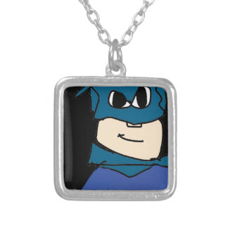 super heroe silver plated necklace