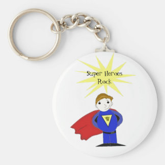Super Heroes Rock Keychains