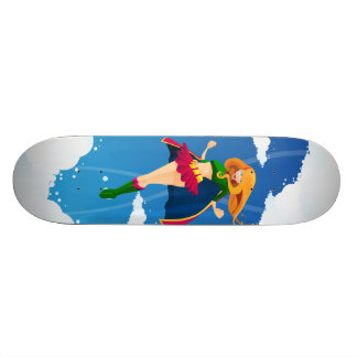 Super heroine Skateboard