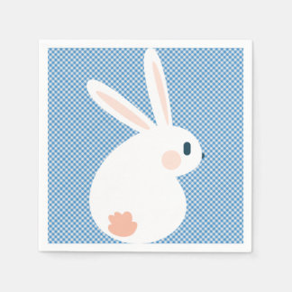 Super Kawaii Cute Easter Bunny. Paper Napkins