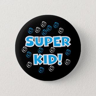 Super Kid Blue 2 Inch Round Button
