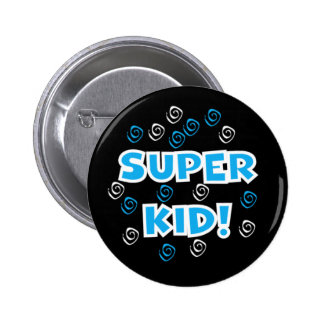 Super Kid Blue 2 Inch Round Button