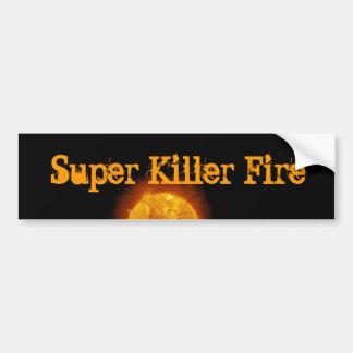 SUPER KILLER FIRE logo sticker Bumper Sticker