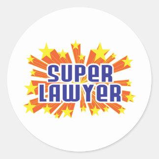 Super Lawyer Round Sticker