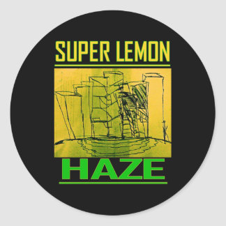 SUPER LEMON HAZE CLASSIC ROUND STICKER