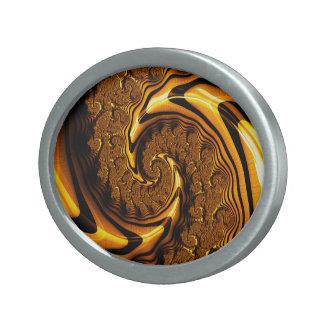 Super Loompa Landslide Milk Chocolate Spiral Oval Belt Buckle