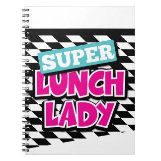 Super Lunch Lady Retro Spiral Note Books