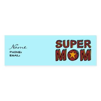 SUPER MOM Custom Play Date Card Mini Business Card