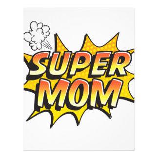 Super Mom Letterhead