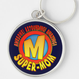 Super Mom Mother's Day Metal Keychain