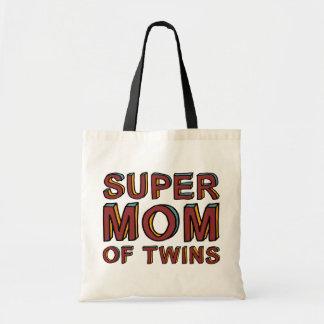 SUPER MOM OF TWINS BUDGET TOTE BAG