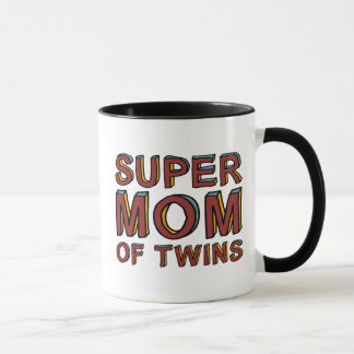 SUPER MOM OF TWINS MUG