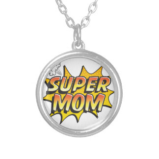 Super Mom Silver Plated Necklace