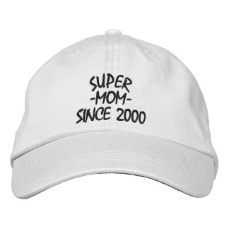 Super Mom Since Embroidered Hat