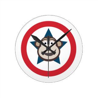Super Monkey Graphic Clock