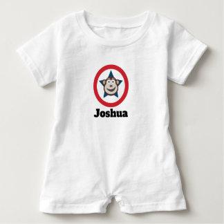 Super Monkey Short-Sleeved Personnalised Baby Romper