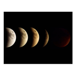 Super Moon, Blood Moon, Lunar Eclipse, 2015 Postcard