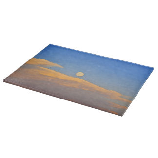 Super Moon Cutting Board Western Landscape