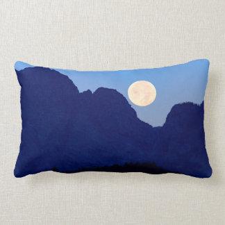 Super Moon Over The Grand Tetons Lumbar Pillow
